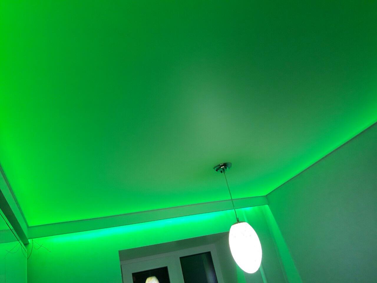 признанию артистки, фото натяжных потолков одноцветных в комнате отлично просматриваются